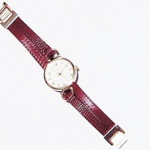 RJGraziano Gold Faced Watch Leather Band